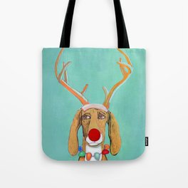 George the Holiday Hound Tote Bag