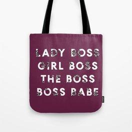 Lady Boss | Girl Boss | The Boss | Boss Babe Tote Bag
