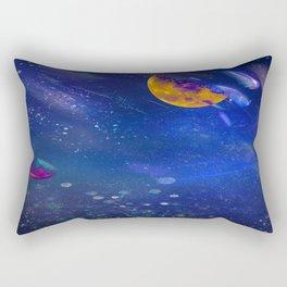 Moon Galaxy Rectangular Pillow
