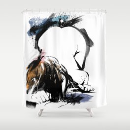 Shibari - Japanese BDSM Art Painting #8 Shower Curtain