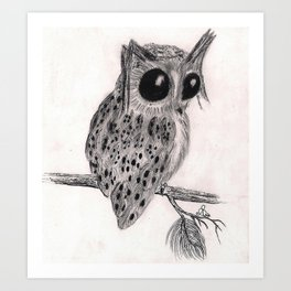 Thoughtful Owl Art Print