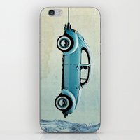 vw iPhone & iPod Skins featuring Water Landing VW beetle by Vin Zzep