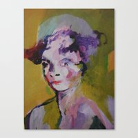 beth hoeckel Canvas Prints featuring beth by Dan Feit