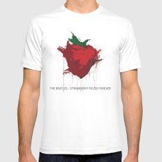 Strawberry Fields Forever  Mens Fitted Tee White MEDIUM