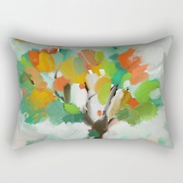 Modern impressionist painting, Collorist art, nature art Rectangular Pillow
