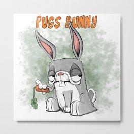 Pugs Bunny Metal Print
