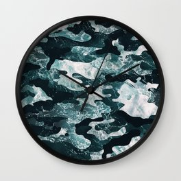 Surfing Camouflage #2 Wall Clock