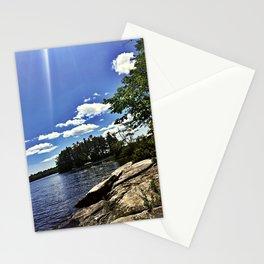 Island on Lake Pemaquid in Damariscotta, Maine Stationery Cards