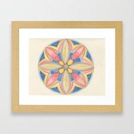 Jewel Mandala Framed Art Print