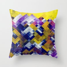 Abstract Forest Throw Pillow