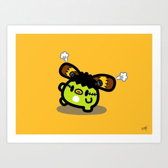 Halloween series - FrankenRin Art Print