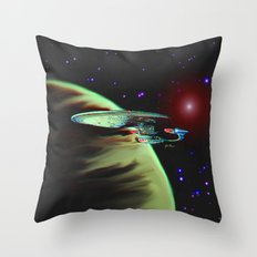 Enterprise NCC 1701D Throw Pillow