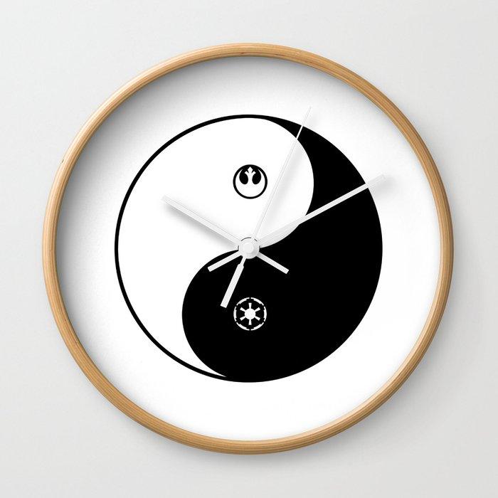 rebel empire yin yang wall clock by drawintowonder society6
