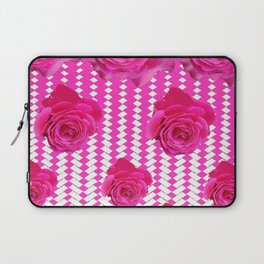 ABSTRACTED CERISE PINK ROSES GARDEN ART Laptop Sleeve