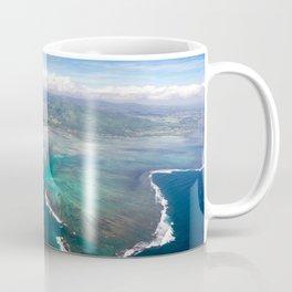 Mauritian waterfall in the ocean Coffee Mug
