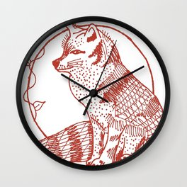 Forest Lover's Fox Wall Clock
