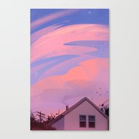 Canvas Prints featuring Summer Evenings by zandraart