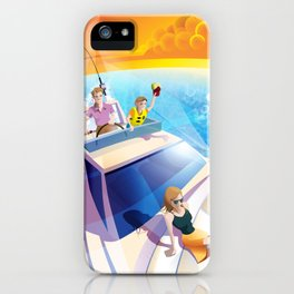 FAMILY ON YACHT iPhone Case