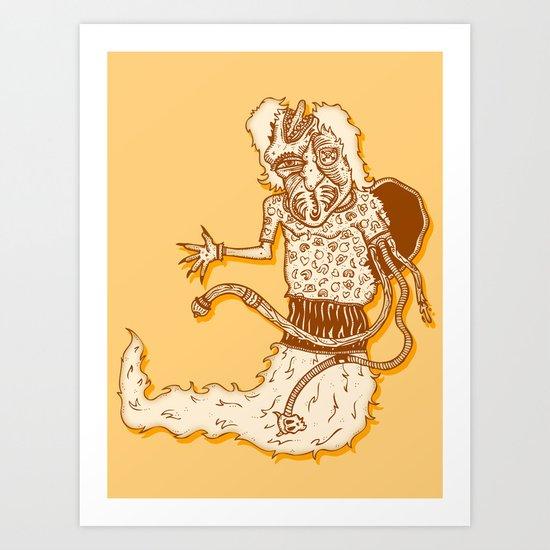 human evolution Art Print