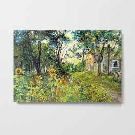 Sunflowers by David Burliuk Metal Print