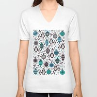 silver V-neck T-shirts featuring Silver Trinklets  by Poppy & Red