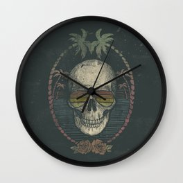 Palm Skull Wall Clock