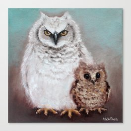 Wol and Weeps - From Owls in the Family - By Farley Mowat Canvas Print