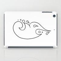 tina crespo iPad Cases featuring Tina / طينة (lineart) by Jezunya