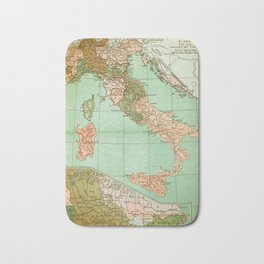 Italy in 1490 - Vintage Map Series Bath Mat