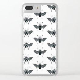 Beetle #4 B&W Clear iPhone Case