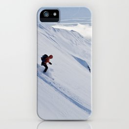 Skiers at Hatcher Pass (2) iPhone Case
