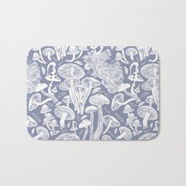 Delicious Autumn botanical poison IV // blue grey background Bath Mat