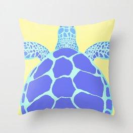 Beach Yellow Turtle Throw Pillow
