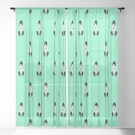 We have lift off!! teal Sheer Curtain