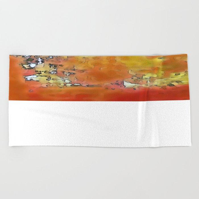 Orange Burst Beach Towel
