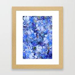 Wild Blue Rose Garden Framed Art Print