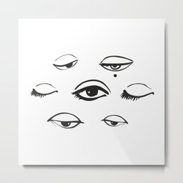 Sleepy eyes Metal Print