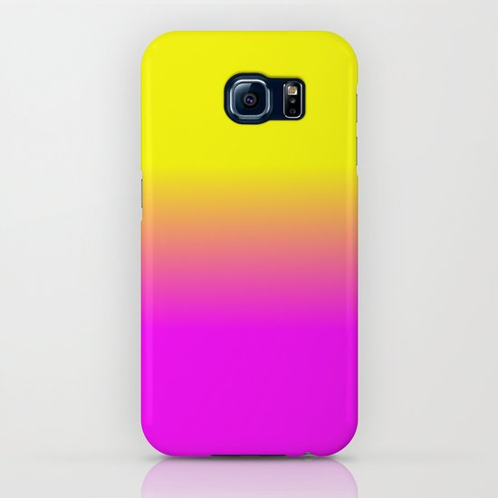 Neon Yellow and Bright Hot Pink Ombré  Shade Color Fade by podartist