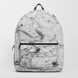 Dramatic white stone - marble Backpack
