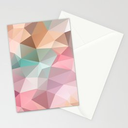Abstract triangles polygonal pattern Stationery Cards