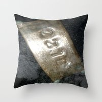 221b Throw Pillows featuring 221B  by Foundtique