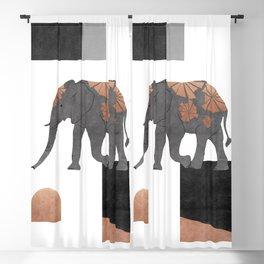 Elephant Mosaic II, Animals Blackout Curtain