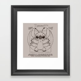 Stitch vitruvien Framed Art Print