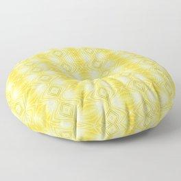 Cornfield Yellow Curves Floor Pillow