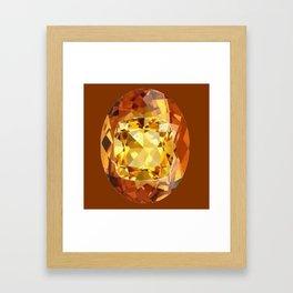 HONEY YELLOW  CITRINES SEPTEMBER  BIRTHSTONES ART Framed Art Print