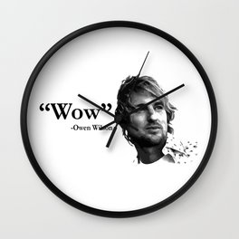 Wow - Owen Wilson Wall Clock