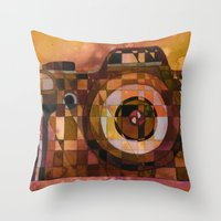 rebel Throw Pillows featuring Rebel by S.G. DeCarlo