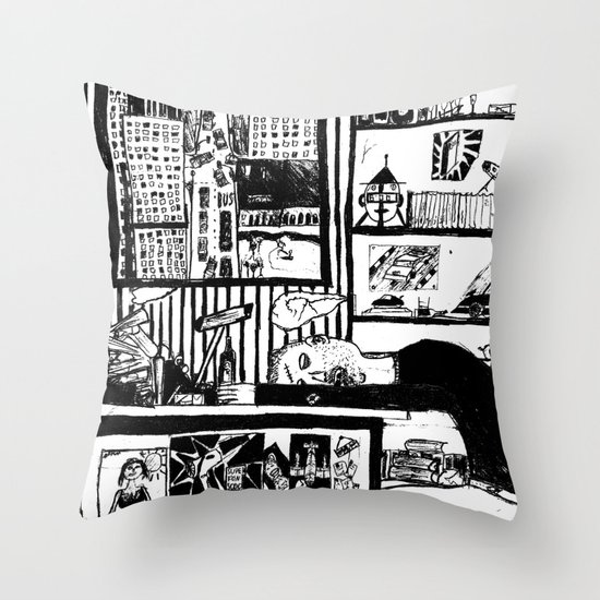 bring me a drunk dream. Throw Pillow
