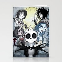 tim burton Stationery Cards featuring Burton Madness by Infell