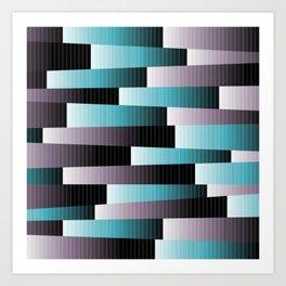 Mauve & Turquoise Art Print